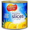 GOLDEN CIRCLE PINEAPPLE SLICED IN SYRUP 3KG