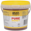 BLACK AND GOLD CLEAR PAIL HONEY 1KG