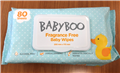 BABY BOO UNSCENTED BABY WIPES 12 X 80PK