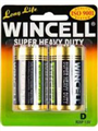 WINCELL SUPER HEAVY DUTY BATTERY D 2PACK