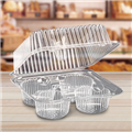 PACK 4 MUFFIN CLEAR 178 x 178 x 70 mm